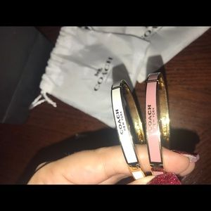 2 coach bangles with packaging. Selling both